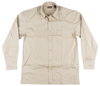 Knockout Jeans Khaki Solid L/S Button Down Woven Shirt
