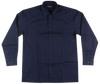 Knockout Jeans Navy Solid L/S Button Down Woven Shirt