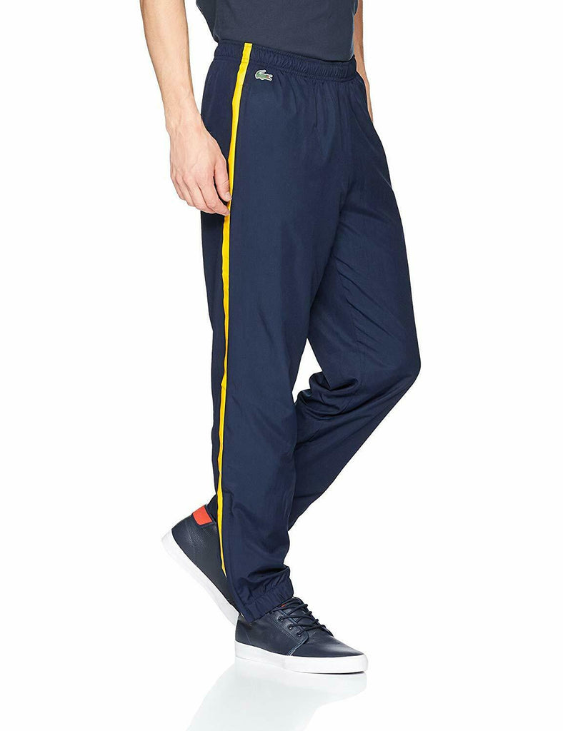 Lacoste Navy Blue Colored Bands Tennis Track Pants