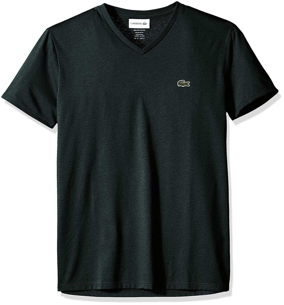 Lacoste Pin Mouline Short Sleeve Pima Cotton V-Neck Jersey T-Shirt