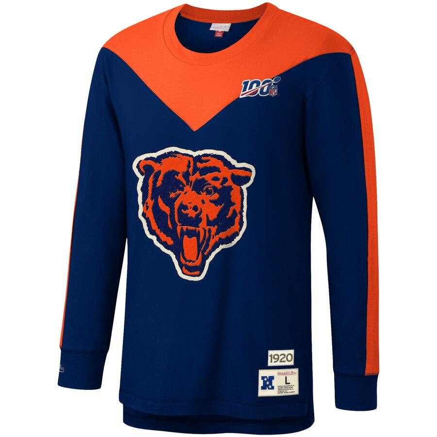 Mitchell & Ness Navy/Orange NFL Chicago Bears Team Inspired T-Shirt