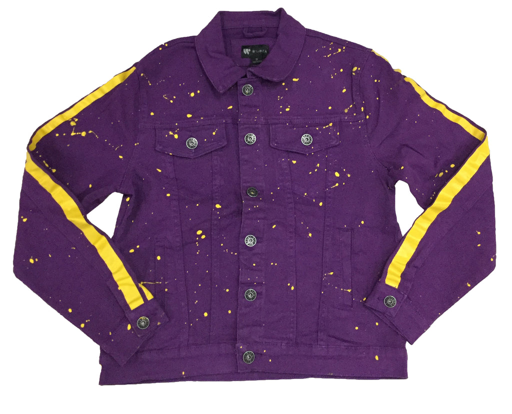 Waimea Purple/Yellow Paint Splatter Denim Jacket