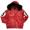 Robert Phillipe Ruby 8 Ball Jacket with Fur Hood