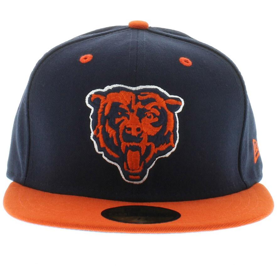 New Era NFL Chicago Bears 59FIFTY League Basic Team Colors Fitted Cap