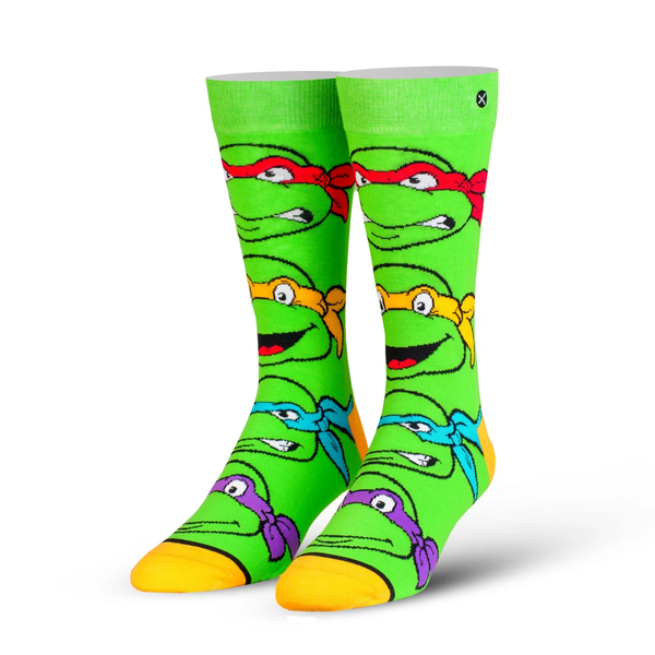Odd Sox Multi-Color Turtle Boys Crew Socks