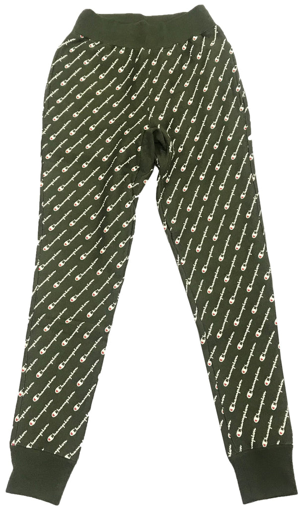 Champion Forest Green Reverse Weave All-Over Print Joggers