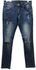 Platform 100 Medium Blue Ripped Denim Jeans