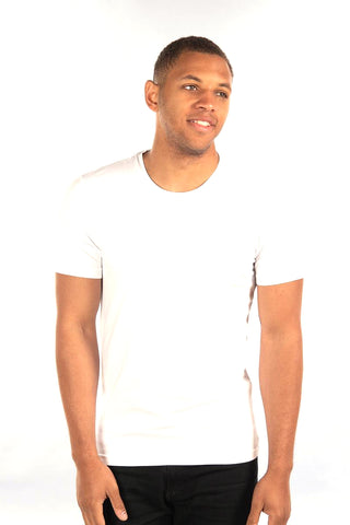 City Lab White Stretch Fit Crewneck T-Shirt