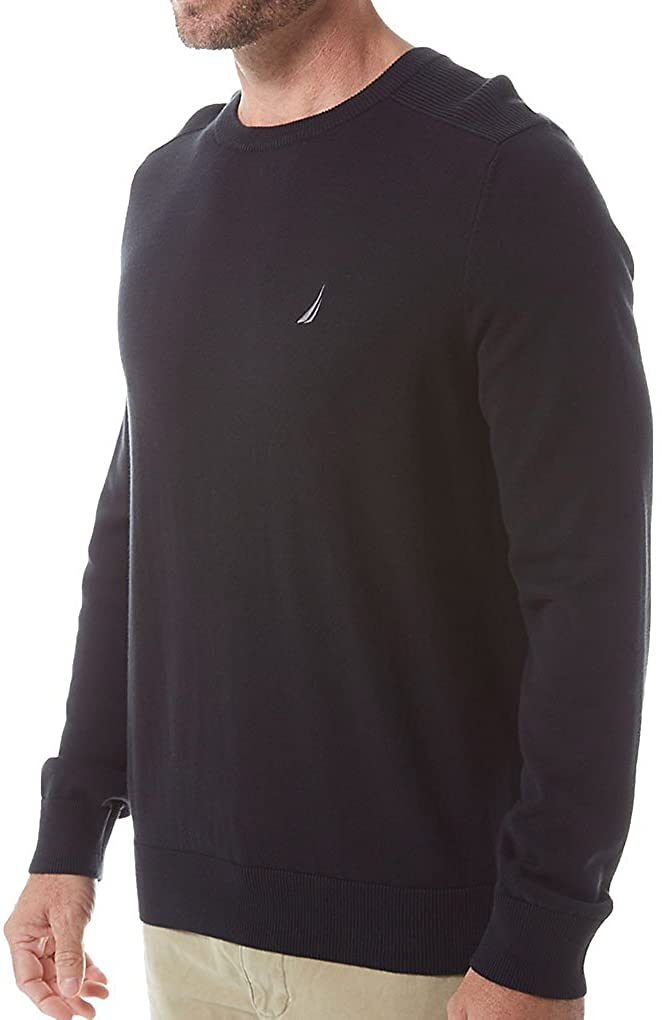 Nautica True Black Lightweight Crewneck Sweatshirt
