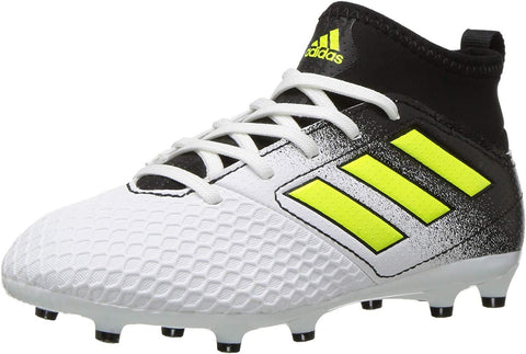 Adidas Ace 17.3 FG J White/Solar Yellow/Black Soccer Shoe (PS/GS)