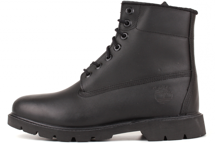 Timberland 6 In. Basic Black Leather Boot
