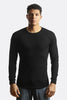 City Lab Black Fitted Thermal Crewneck Shirt