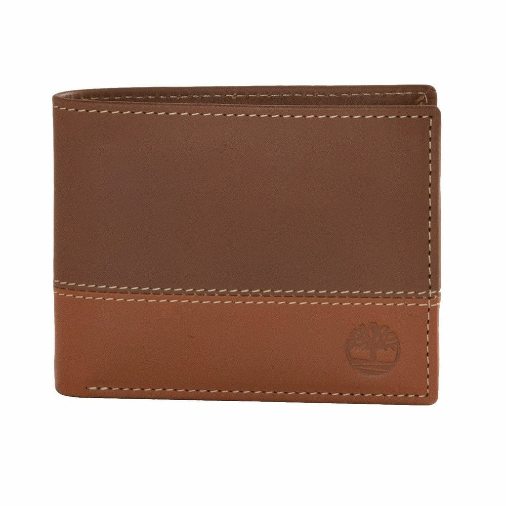 Timberland Brown/Tan Two Tone Leather Commuter Wallet