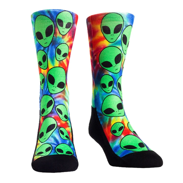Rock Em Multicolor Trippy Invasion Socks