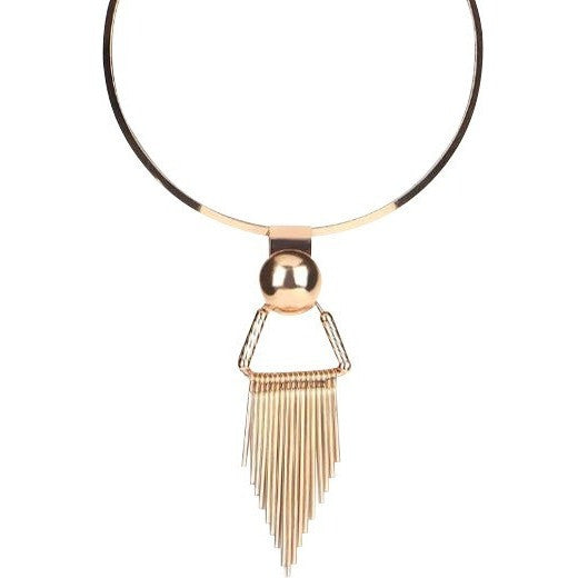 luxe statements golden tassel choker