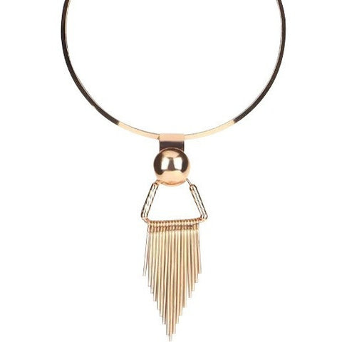 Golden Choker with Tassel
