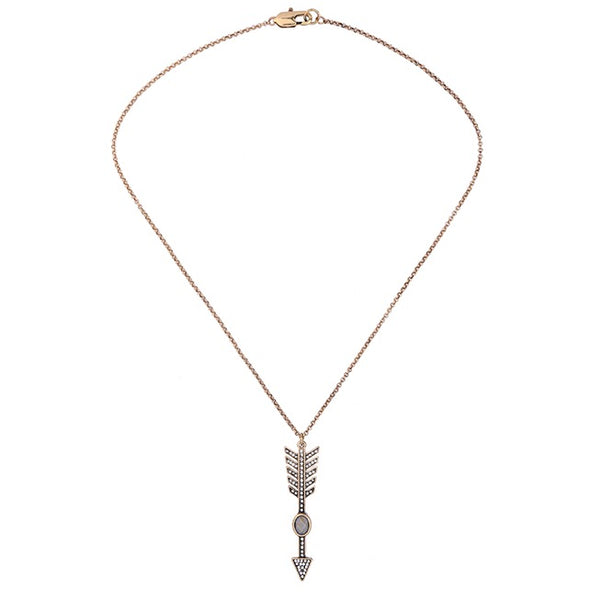 Luxe Statements Arrow Necklace On White Background