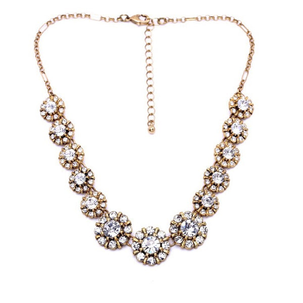 Luxe Statements Cluster Flower Statement Necklace