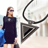 Black Rope Triangle Choker - Luxe Statements