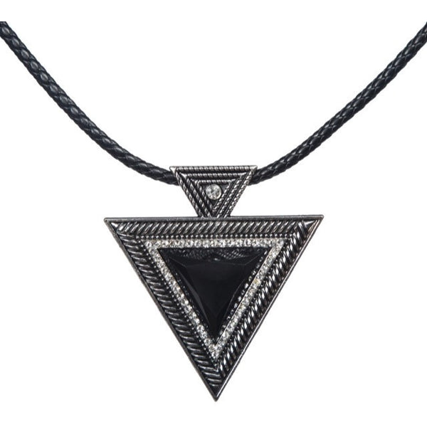 Black Rope Choker w/ Black Triangle