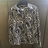 Charter Club Womens Zebra Print Blouse Size 14 Plus Size - Luxe Statements