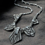 angelina necklace on charcoal gray cloth