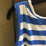 Current Elliot Blue and White Boating Striped Top with Destroy Size Medium Retail $108 - Luxe Statements