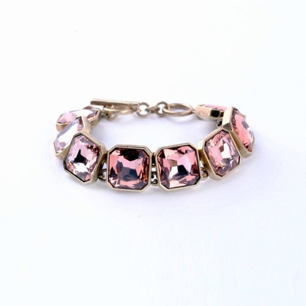 Pink Sparkly Square Bracelet - Luxe Statements