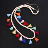 Multicolored Tassel Necklace - Luxe Statements