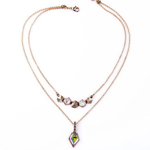Retro Layered Necklace - Luxe Statements
