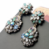 Blue Glitz Statement Earrings - Luxe Statements