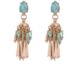 (NEW) Metal Fringe Tassel Earrings - Luxe Statements