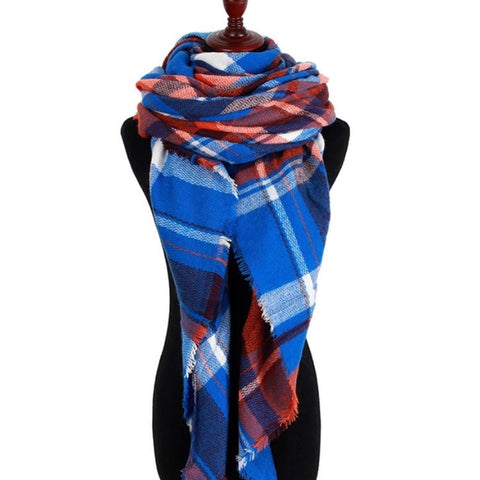 Neon Blue Triangle Scarf - Luxe Statements