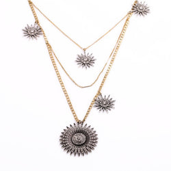 Luxe Statements Fireworks Necklace On White Background