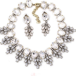 Val Statement Necklace and Earring Set  from Luxe Statements with a white background.