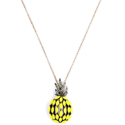 Pineapple Charm Long Necklace