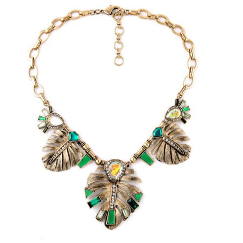 Leaf Necklace - Luxe Statements