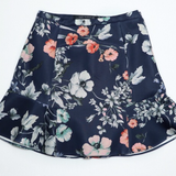 Zara Woman Blue Floral Mini Skirt Size Large - Luxe Statements