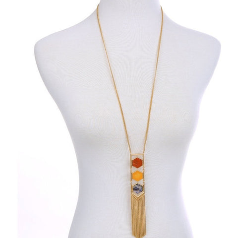 Gold Tassel Long Necklace - Luxe Statements