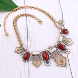 Crimson Gold Queen Statement Necklace - Luxe Statements
