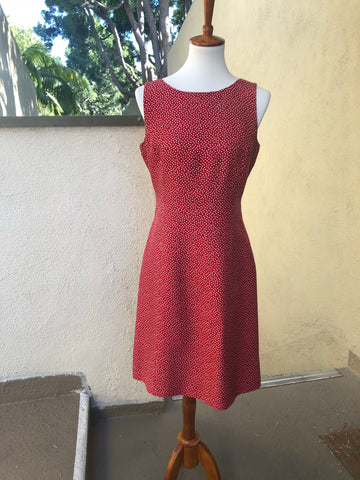 Ann Taylor Red with Cream Polka Dots Dress Size 8 - Luxe Statements