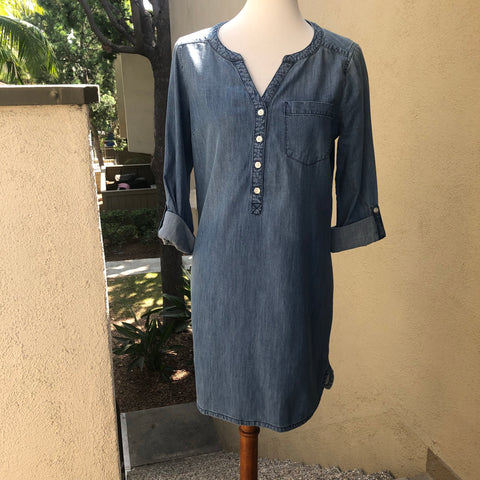 Express Denim Blue Shirtdress Size Small - Luxe Statements