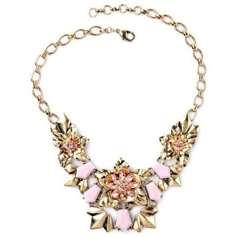 Rose Bouquet Statement Necklace - Luxe Statements