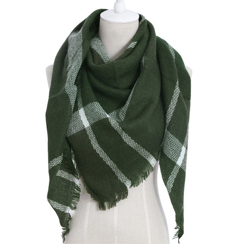 (NEW) Green Triangle Scarf - Luxe Statements