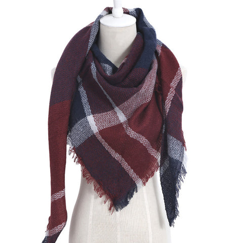 (NEW) Brick Red Triangle Scarf - Luxe Statements