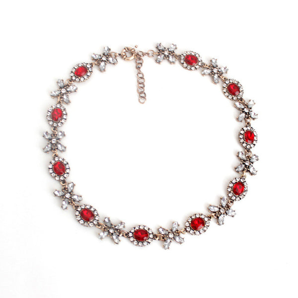 Luxe Statements Red XOXO Statement Necklace