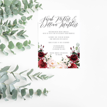 Load image into Gallery viewer, Ruby Floral Wedding Invitation Suite - Misiu Papier