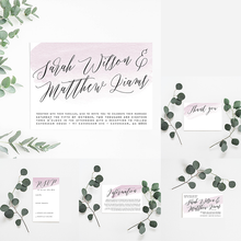 Load image into Gallery viewer, Understated Lilac Wedding Invitation Suite - Misiu Papier