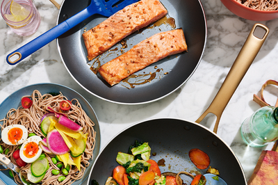 Salmon and Soba Noodles with Sesame-Ginger Dressing