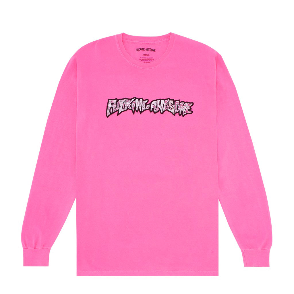 "Fucking Awesome ""Actual Visual Guidance"" L/S // Neon Pink"